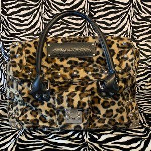 EUC studded leopard Lux deVille Bag